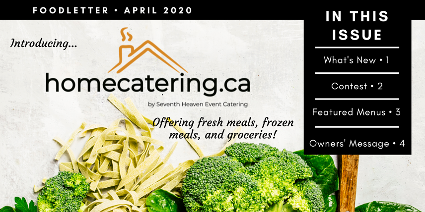 Newsletter, Caterer, Toronto Caterer, Toronto Food Deliveries